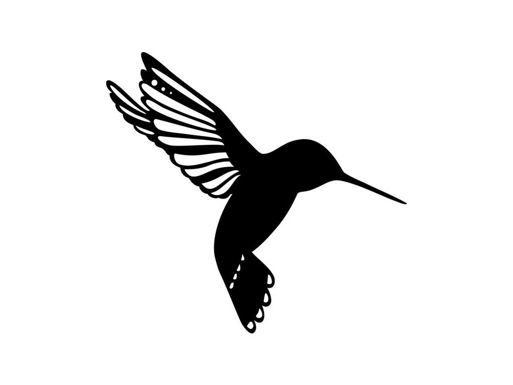 Šablona Marabu pro Fashion sprej 15x15cm - Kolibřík
