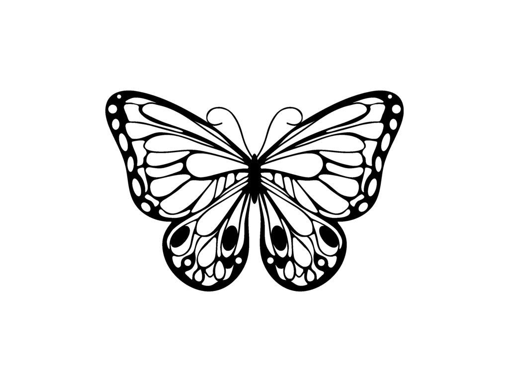 Šablona Marabu pro Fashion spray 15x15cm - Romantic Butterfly
