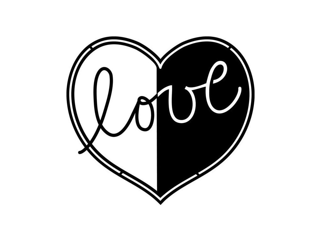 Šablona Marabu pro Fashion sprej 15x15cm - Love