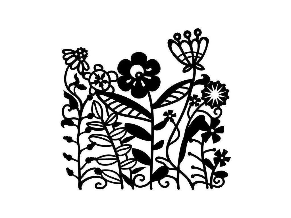 Šablona Marabu pro Fashion sprej 15x15cm - Květiny