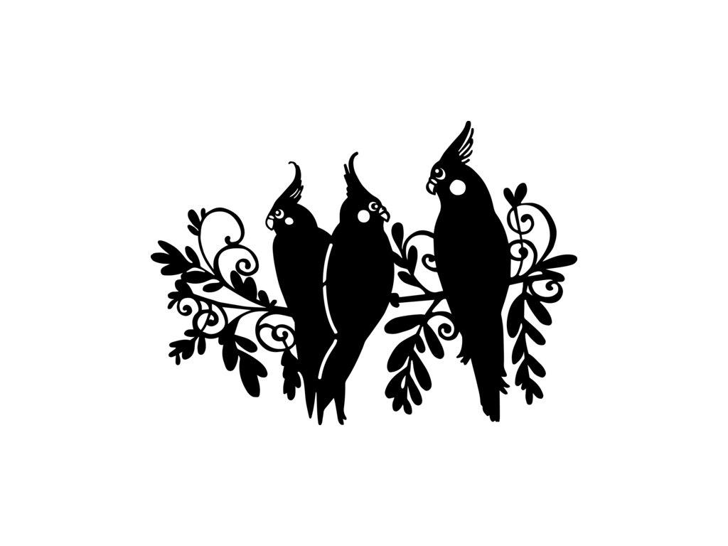 Šablona Marabu pro Fashion sprej 21x30cm - Three birds