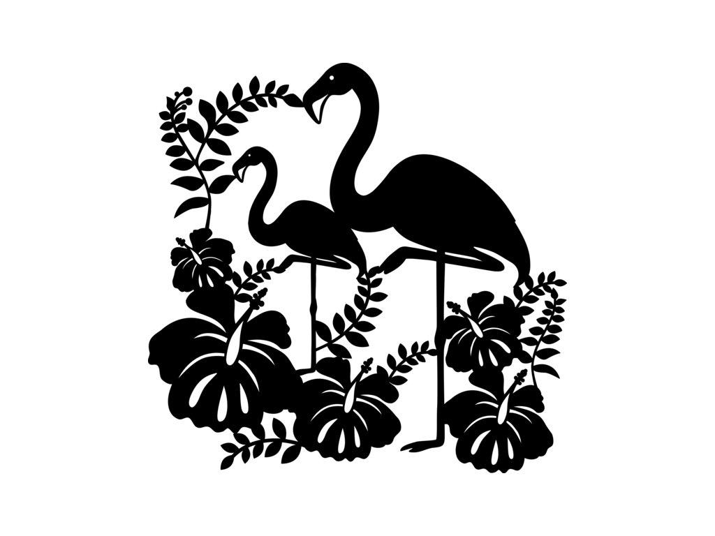 Šablona Marabu pro Fashion sprej 30x30cm - Flamingo