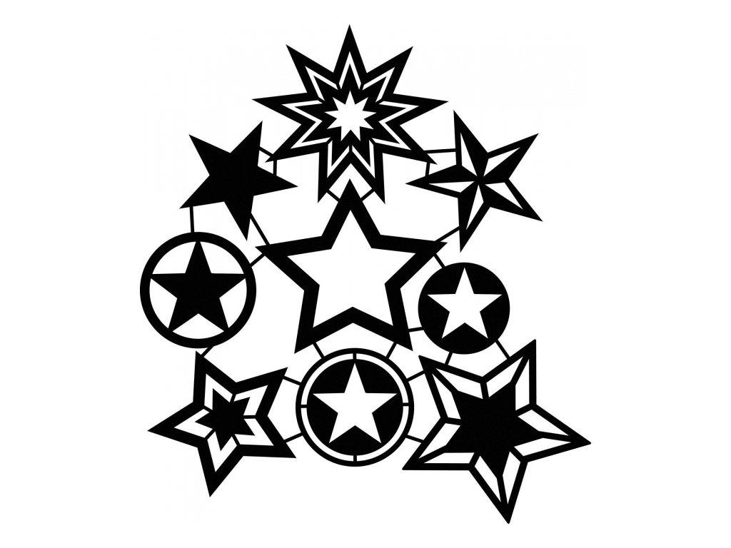 Šablona Fashion Marabu 30x30cm Hvězdičky DOPRODEJ