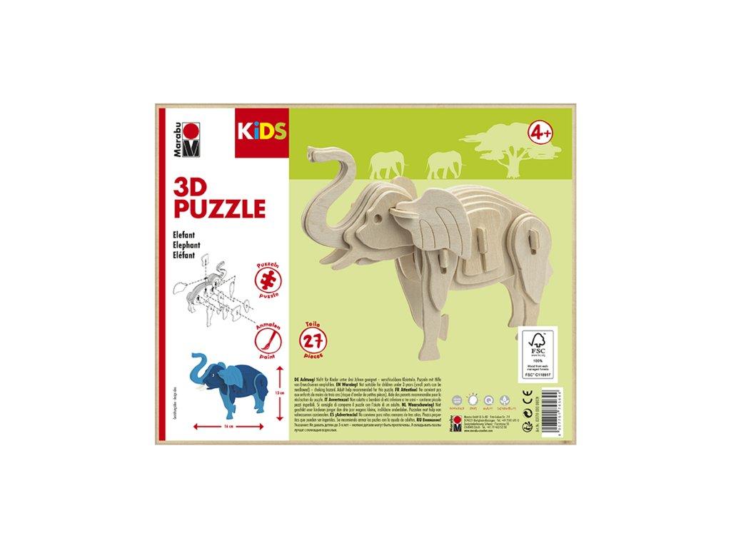 971 1 marabu mara 3d puzzle drevene slon