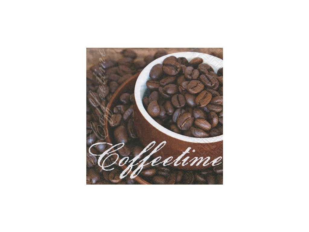 1181 ubrousek trivrstvy 33x33 cm coffe time