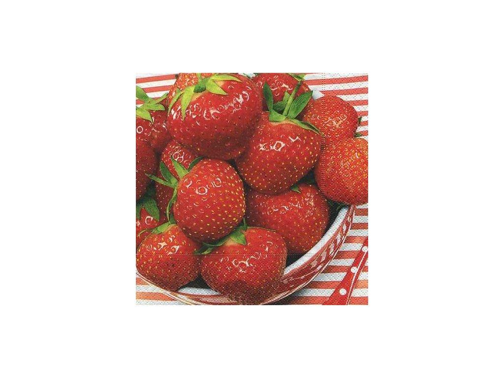 1184 ubrousek trivrstvy 33x33 cm sweet strawberries