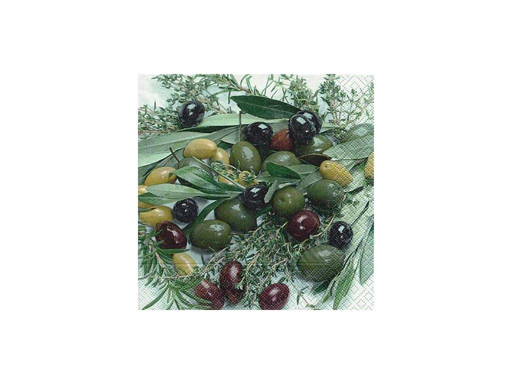 1187 ubrousek trivrstvy 33x33 cm olive mix