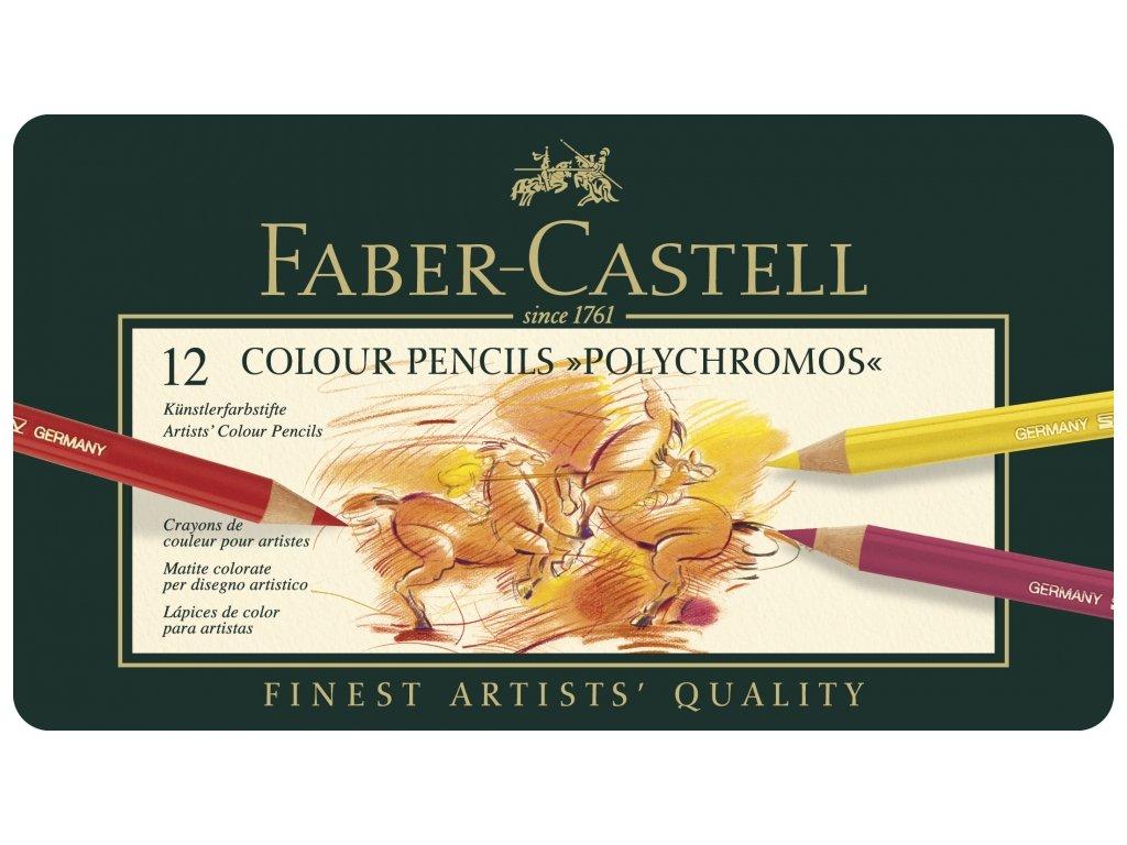 1943 9 umelecke pastelky faber castell polychromos 110012 sada 12 barev