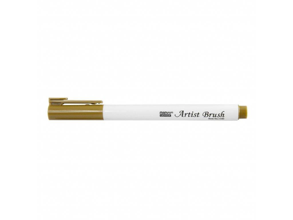 Umělecké fixy se štětcovým hrotem Artist Brush - 27 Olive Brown