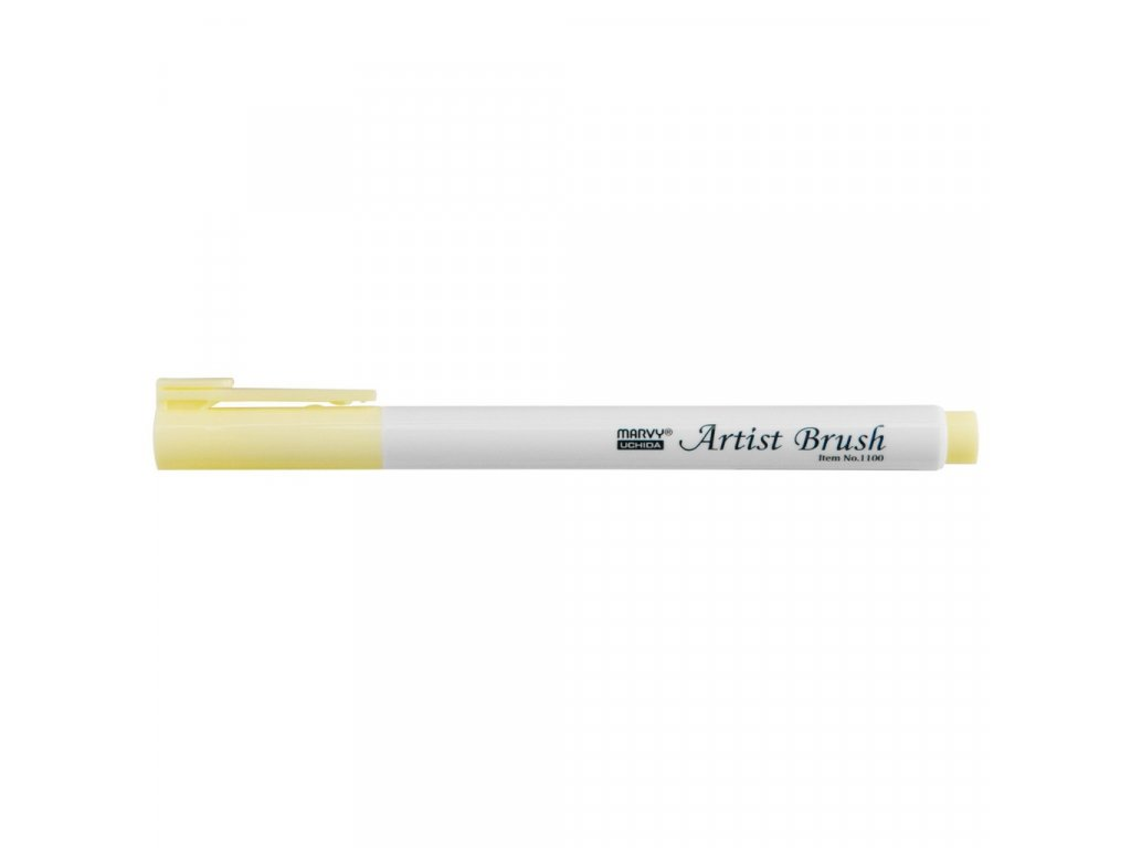 Artists brush marvy uchida 1100 cream yellow