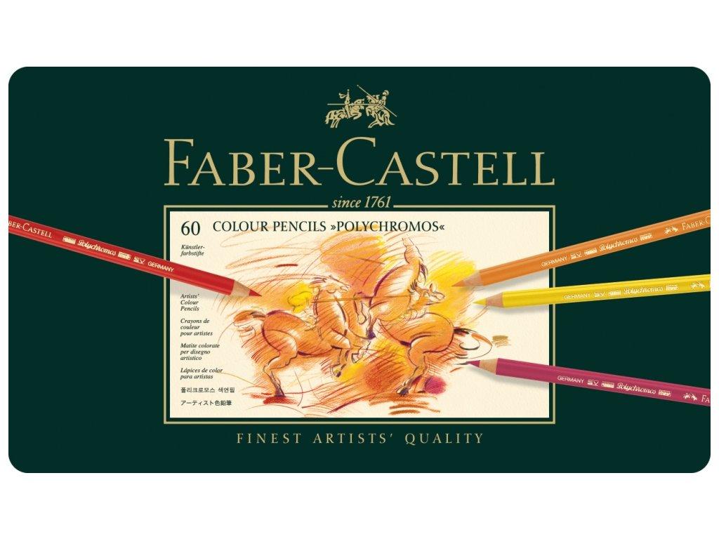 2054 5 umelecke pastelky faber castell polychromos 110060 sada 60 barev