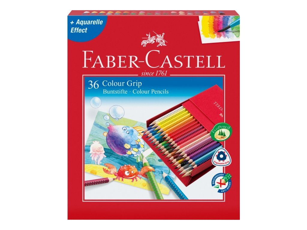 2420 5 pastelky grip 2001 faber castell 36 barev darkova krabicka