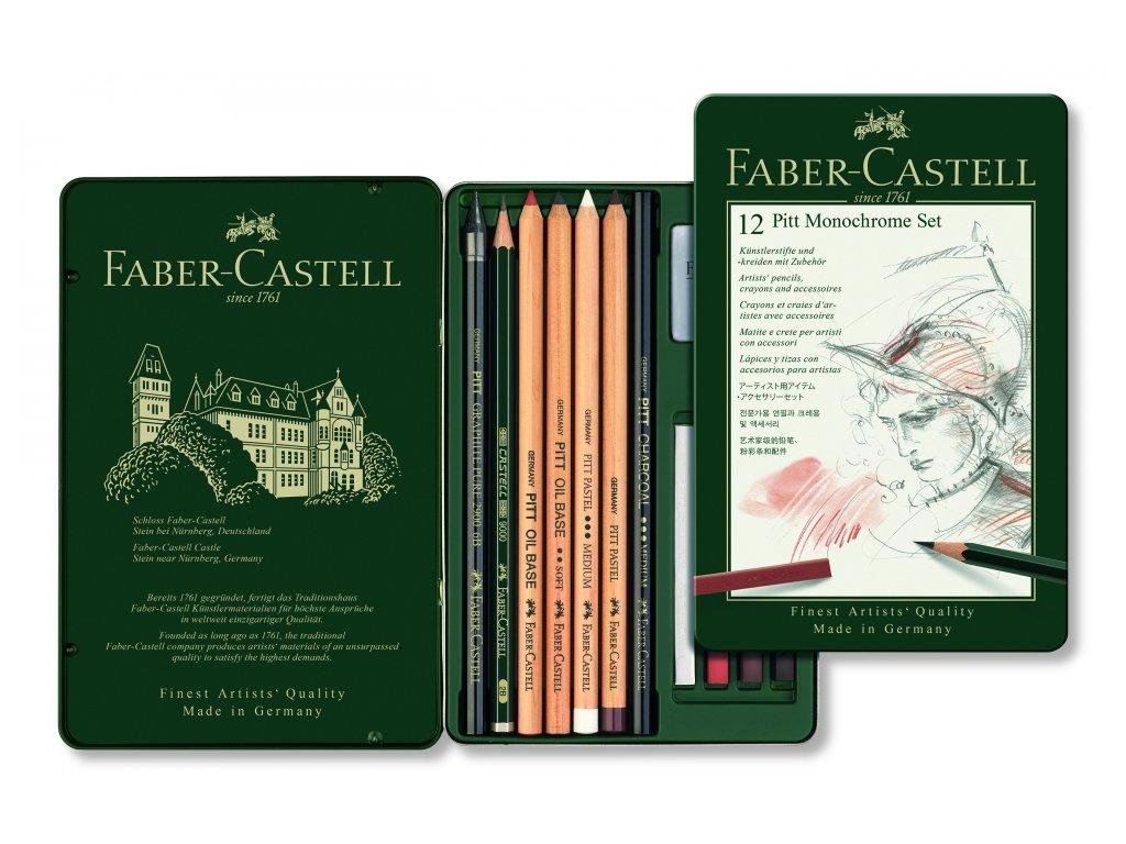 2435 1 pitt monochrome set 12 faber castell 112975