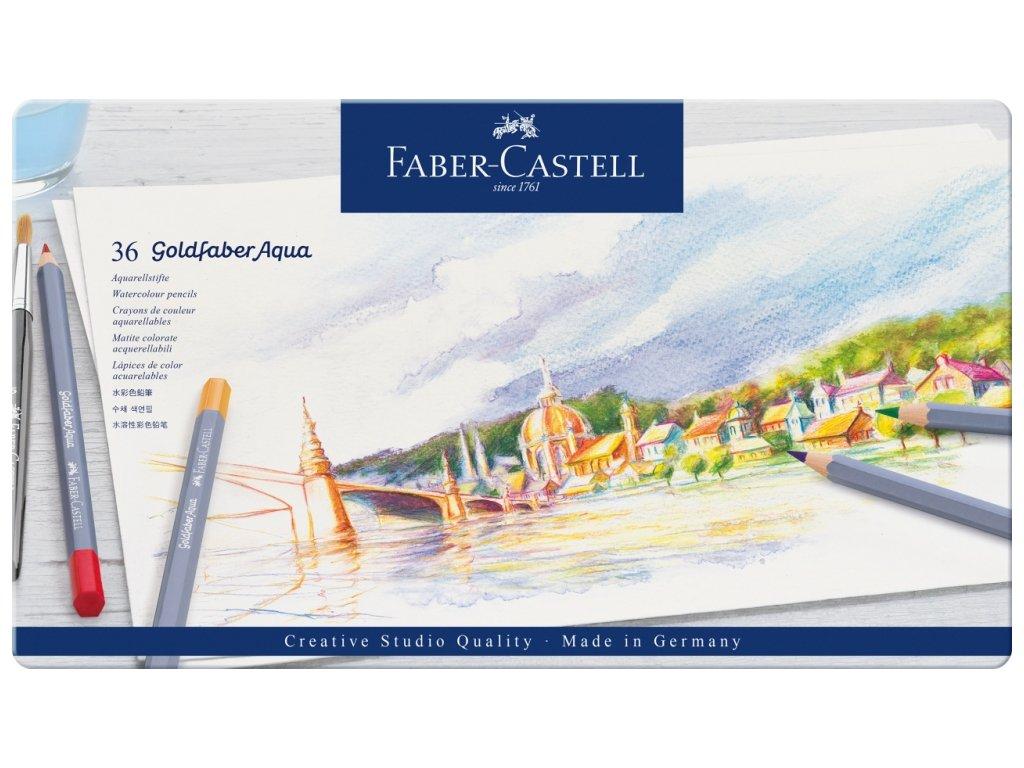 2516 6 pastelky goldfaber aqua 36 barev plech