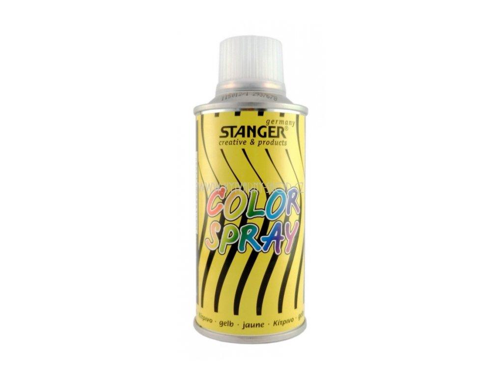 2564 akrylova barva ve spreji stanger color spray 150 ml zluty