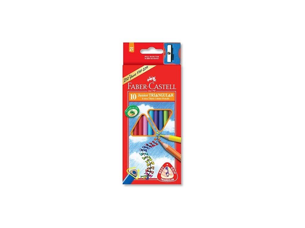 2603 1 pastelky fabre castell 116510 trojhranne silne 10 barev orezavatko