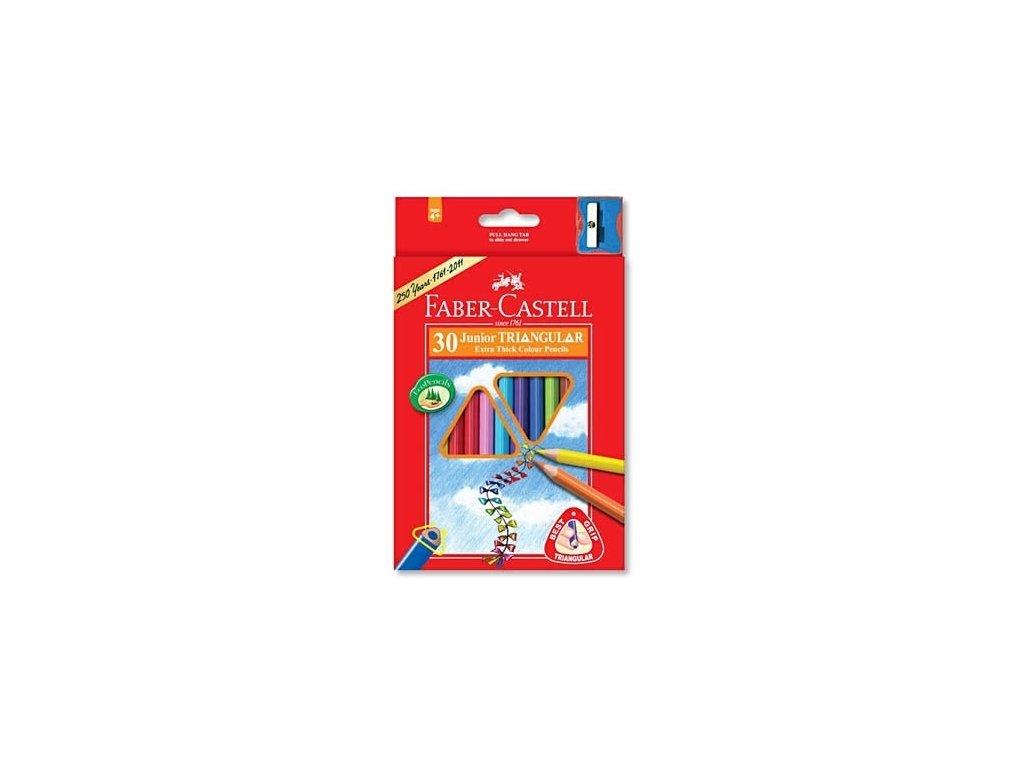 2609 1 pastelky faber castell 116530 trojhranne silne 30 barev orezavatko