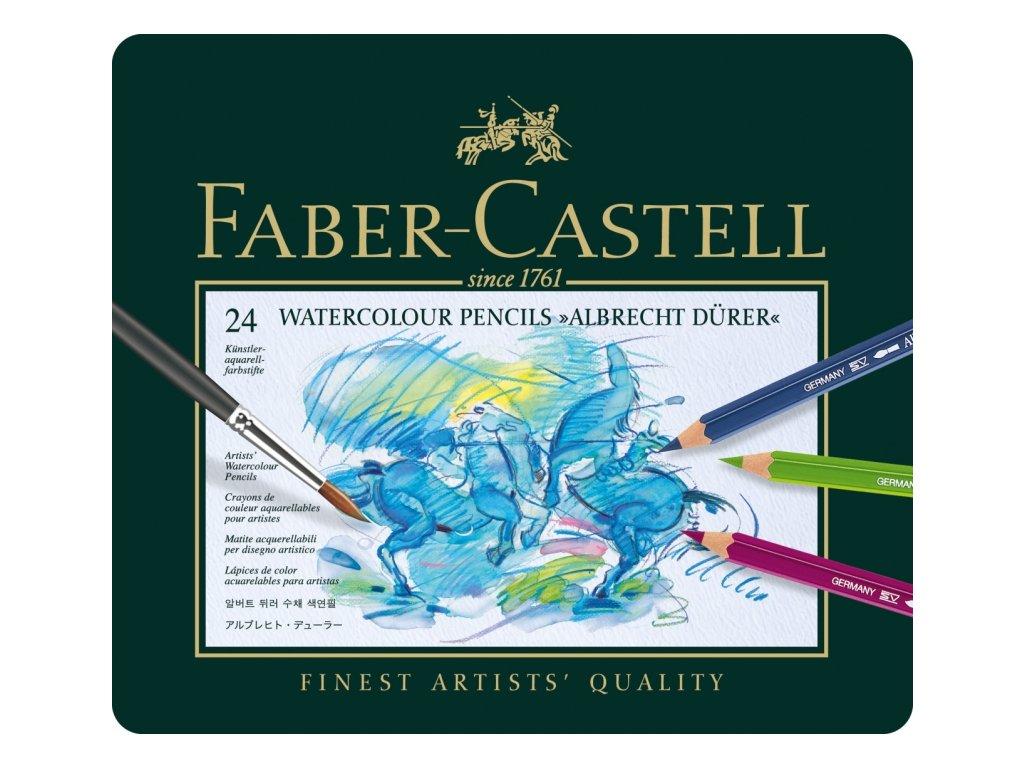 2624 7 umelecke akvarelove pastelky albrecht durer 117524 sada 24 barev