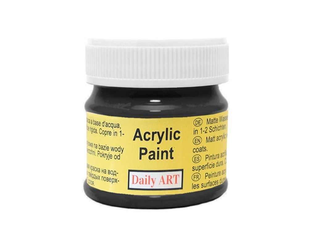 2936 matna akrylova barva 50ml cerna