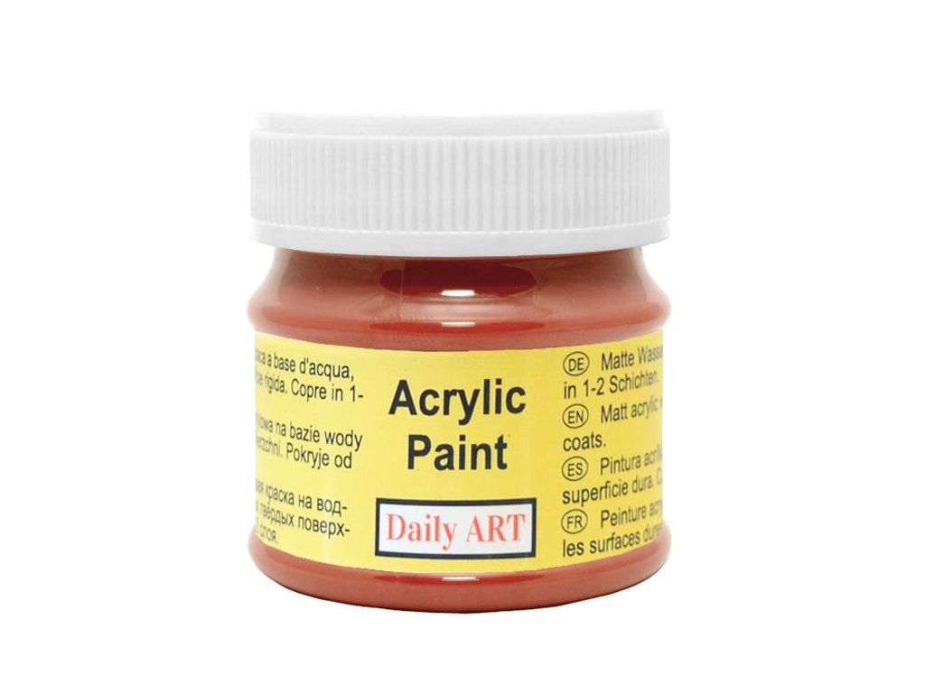 2948 matna akrylova barva 50ml cervena okrova
