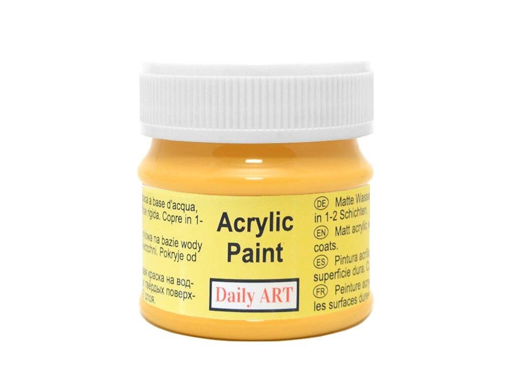 2954 matna akrylova barva 50ml zluta safranova