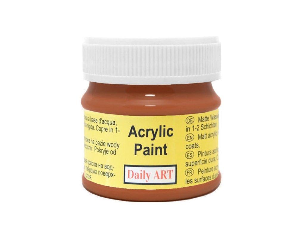 2963 matna akrylova barva 50ml hneda stredne