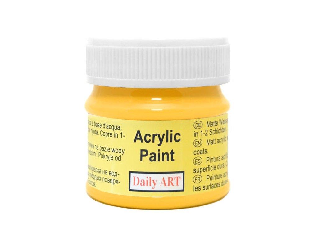 2981 matna akrylova barva 50ml zluta