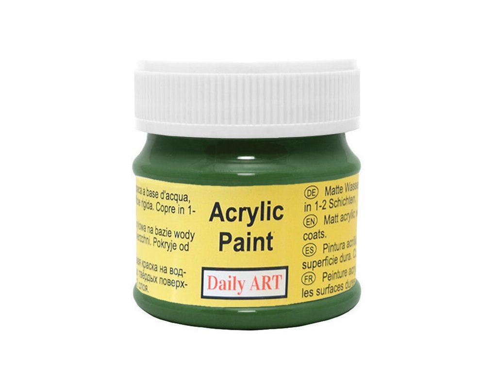 3005 matna akrylova barva 50ml zelena tmave