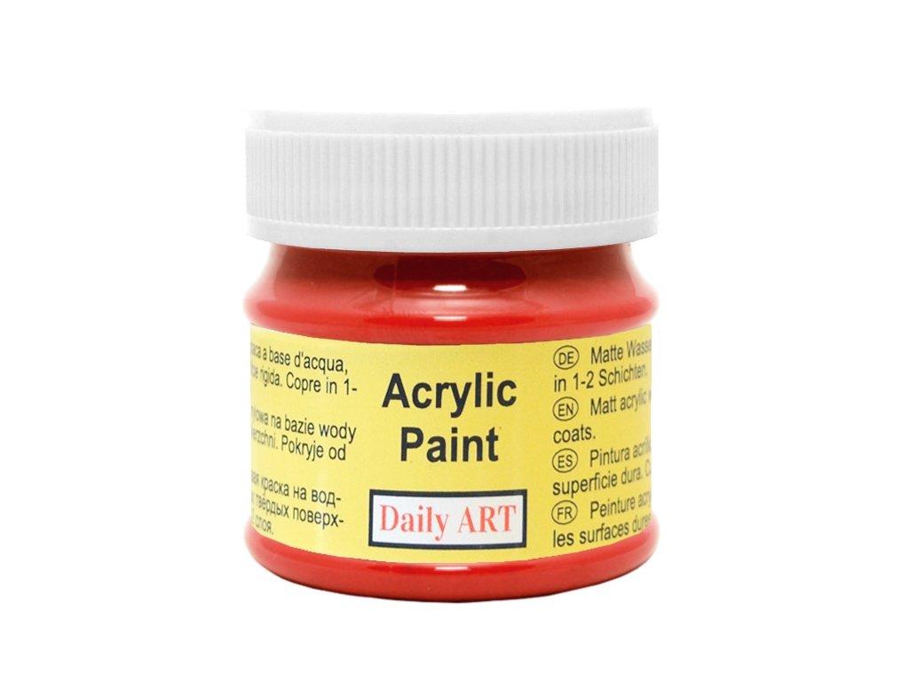 Matná akrylová barva 50ml - červená šarlatová