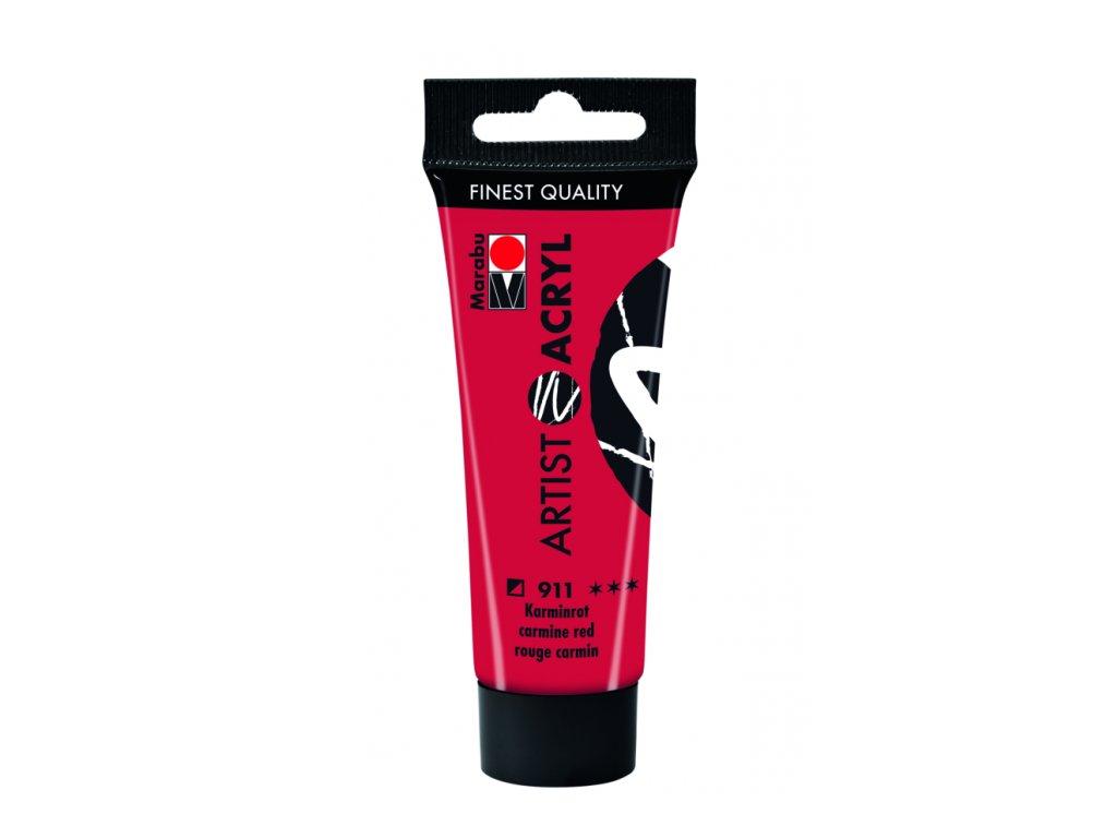 3083 akrylova barva marabu artist acryl 22 ml cervena karminova 911