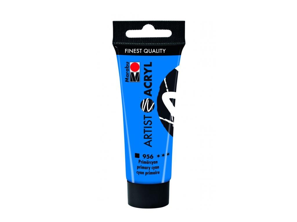 3113 akrylova barva marabu artist acryl 22 ml modra cyan 956