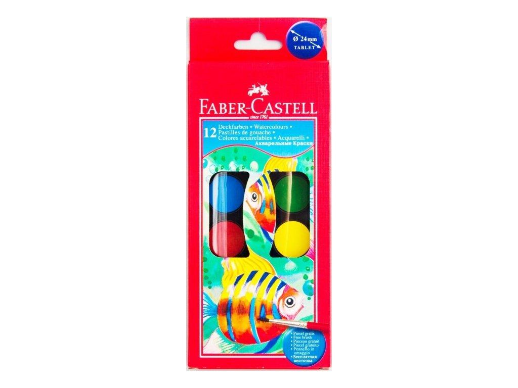 3158 vodove barvy faber castell 12 barev 24 mm