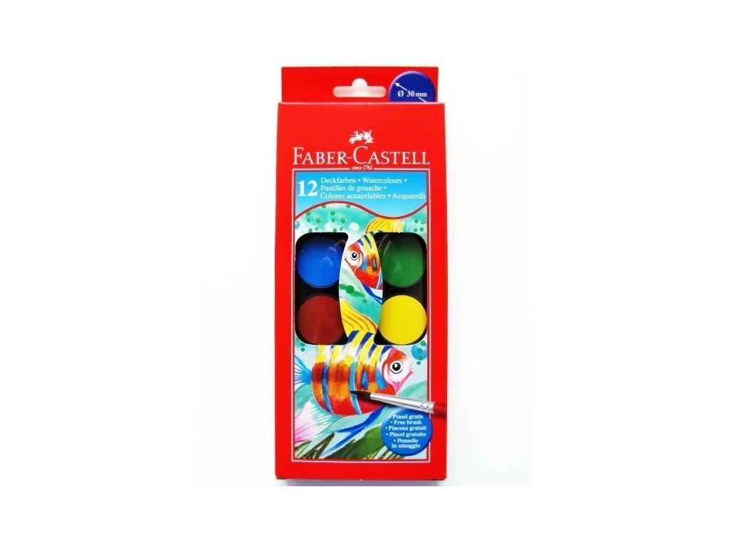 3161 vodove barvy faber castell 12 barev 30 mm