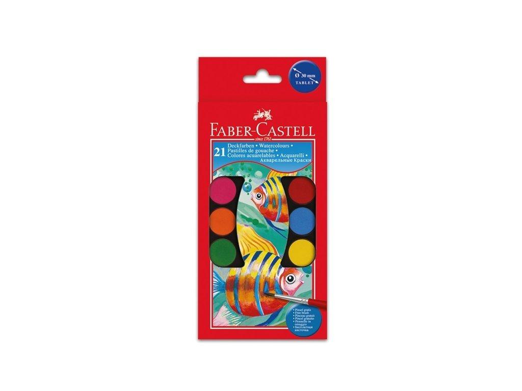 3164 vodove barvy faber castell 21 barev 30 mm
