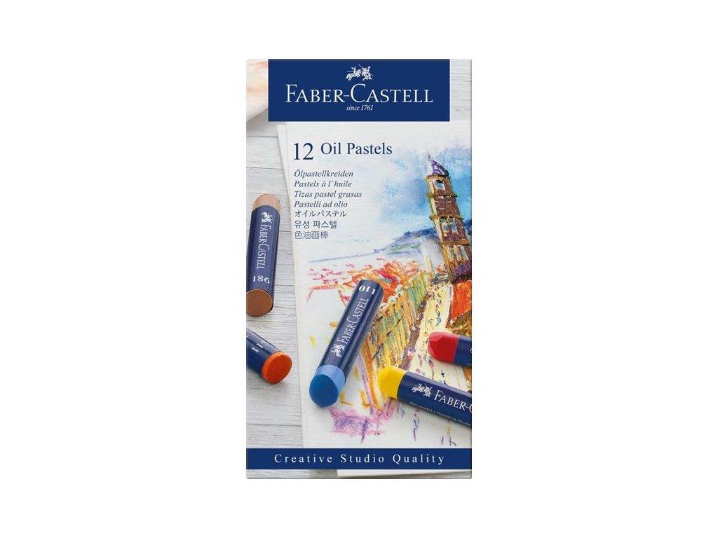 3323 5 olejove pastely faber castell 12 ks