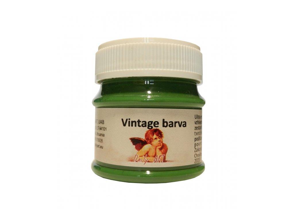 3869 vintage akrylova kridova barva barva 290 lesni zelena