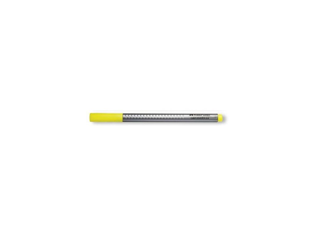 3932 2 popisovac faber castell finepen grip 0 4mm zluty zakladni
