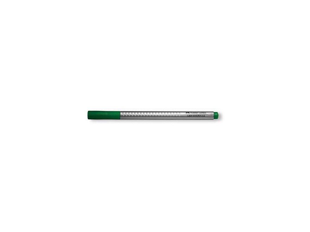 3974 2 popisovac faber castell finepen grip 0 4 mm zeleny zakladni