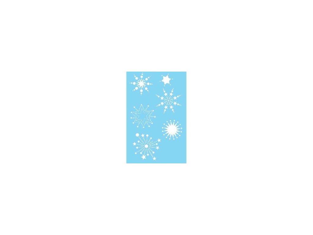 Šablona Marabu 10x15 cm hvězdy a vločky DOPRODEJ