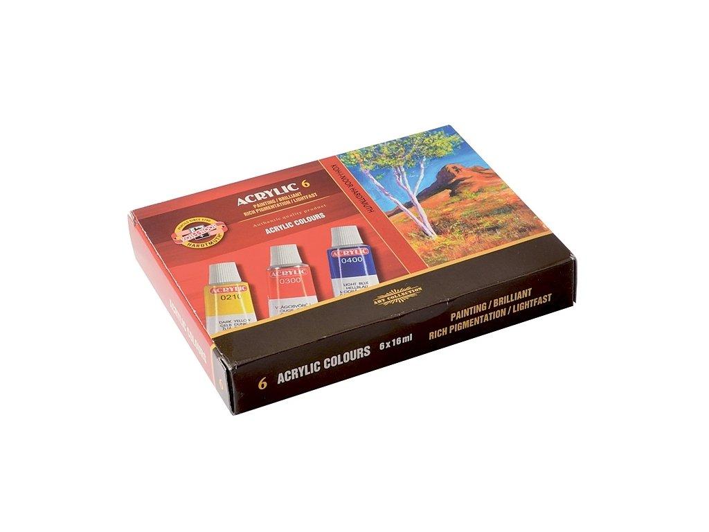 4292 akrylove barvy koh i noor 162701 sada 6 x 16 ml