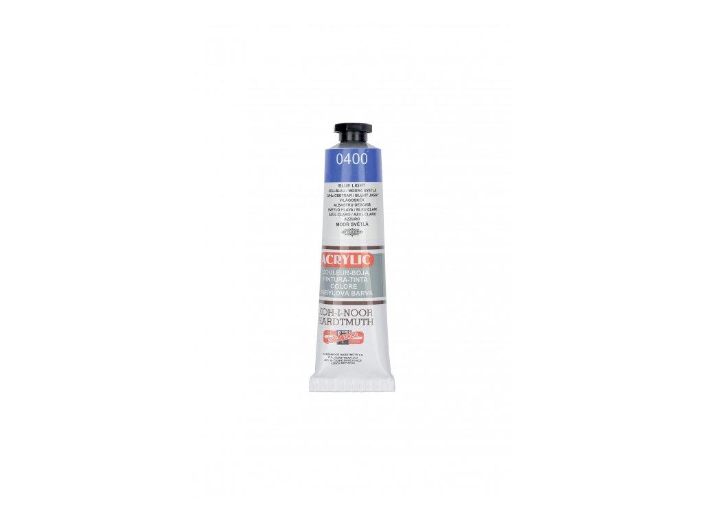 4325 akrylova barva koh i noor 40 ml modra svetla 0400
