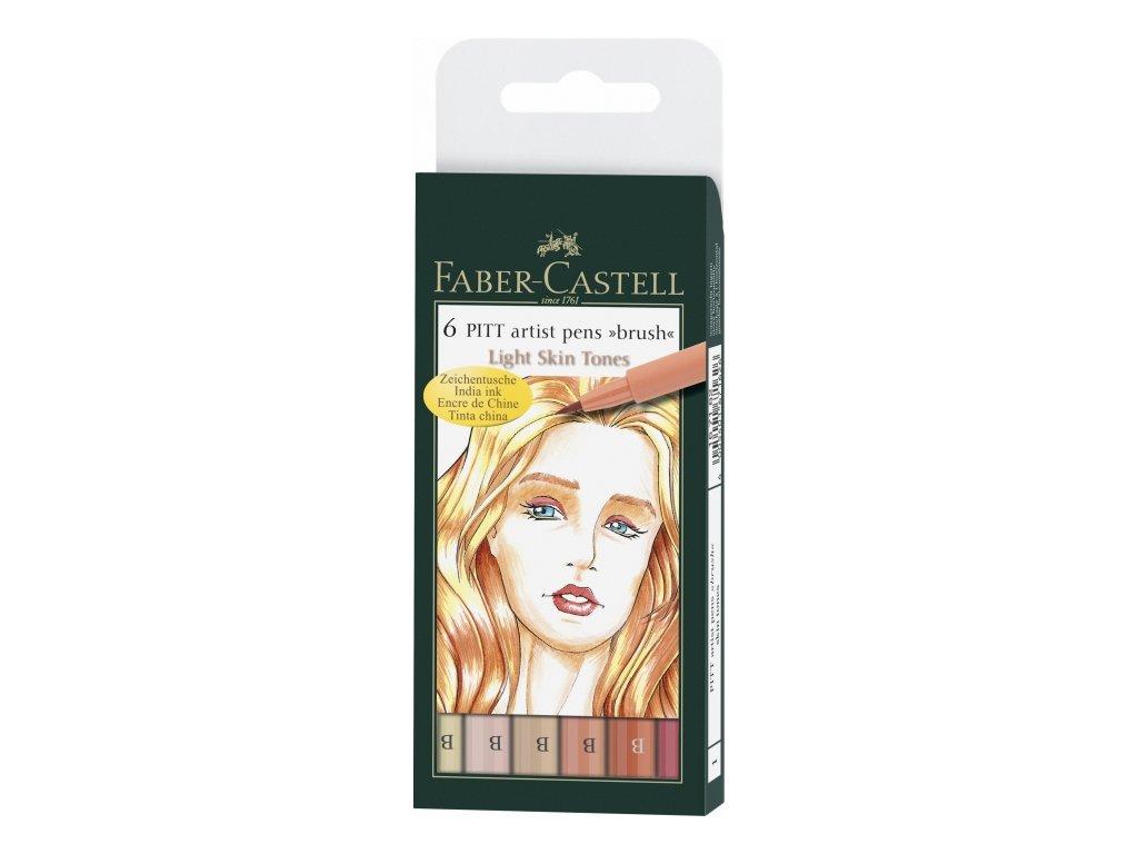 4532 3 pitt artist pen brush 167162 6ks skin tones telove odstiny