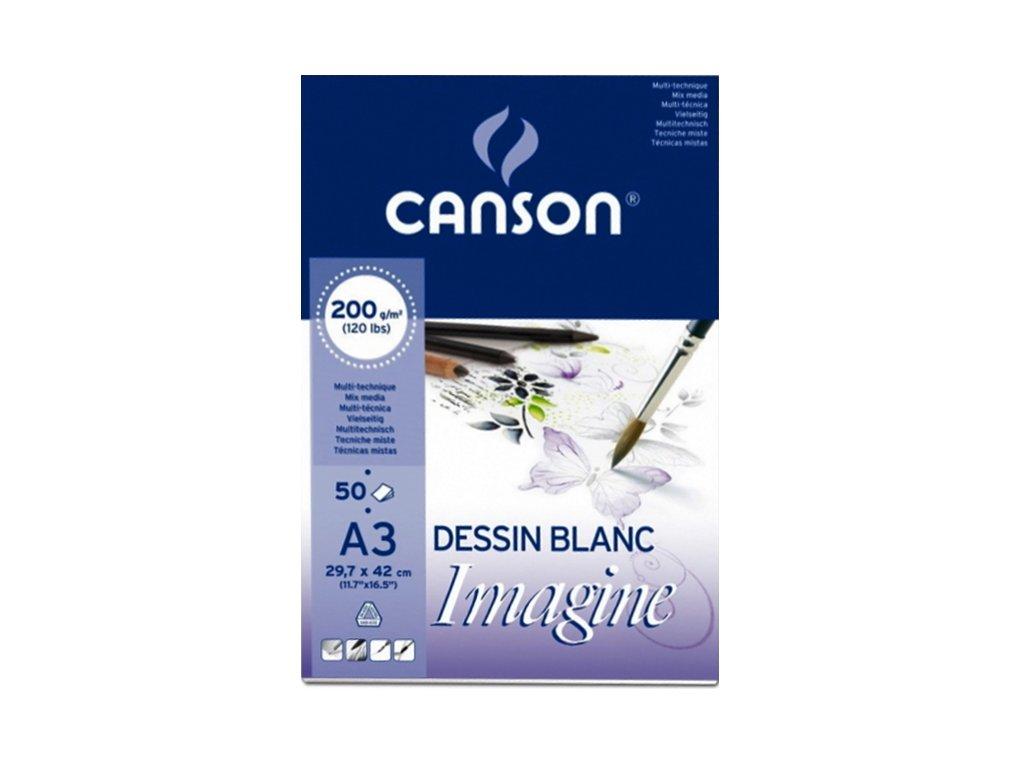 canson mix media imagine a3 50l 200g