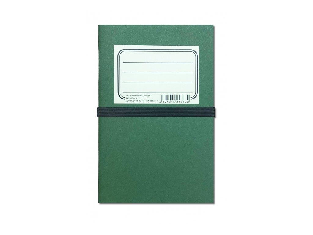 6677 zelenac passbook 14 x 9 cm sada 3 sesitku linkovany teckovany cisty 24 listu kazdy