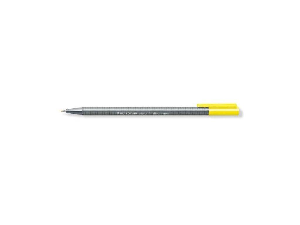 7292 1 staedtler triplus fineliner 334 0 3mm 101 neon zluta