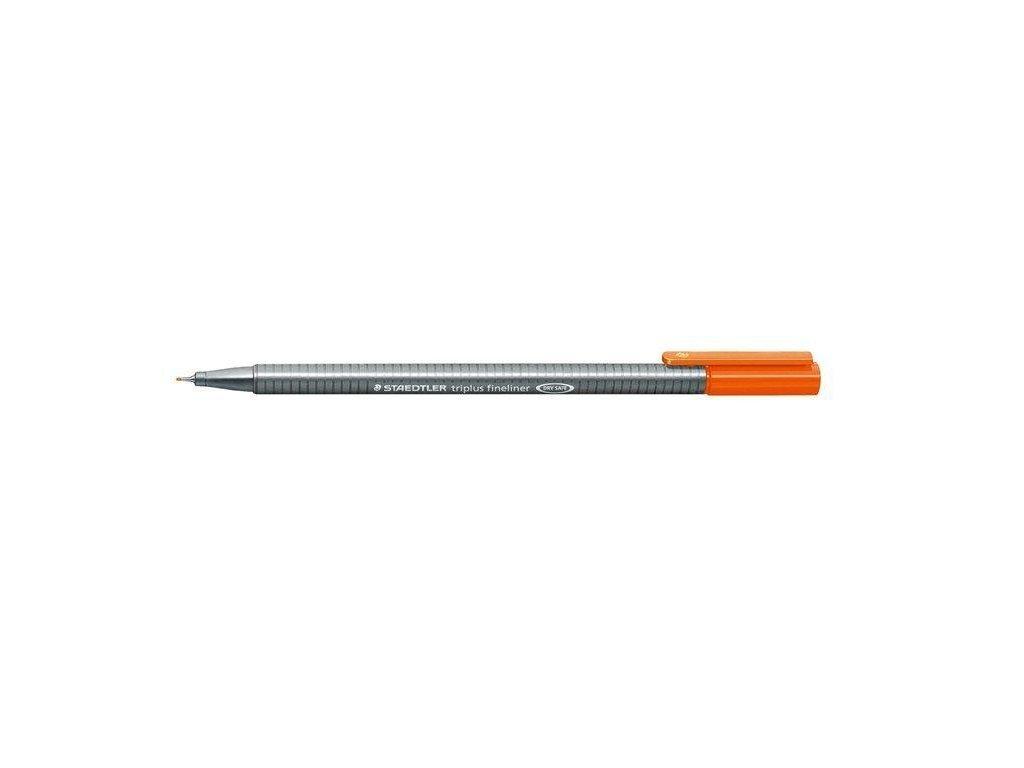 7352 2 staedtler triplus fineliner 334 0 3mm 4 oranzova