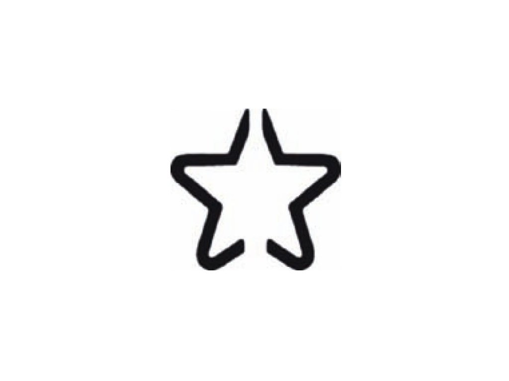 8066 ozdobna derovacka 3d 25 mm hvezda