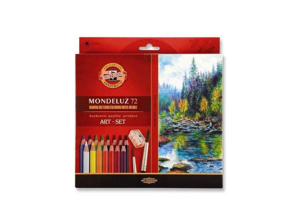 8180 1 akvarelove pastelky koh i noor mondeluz 3714 sada 72 barev 2 stetce orezavatko