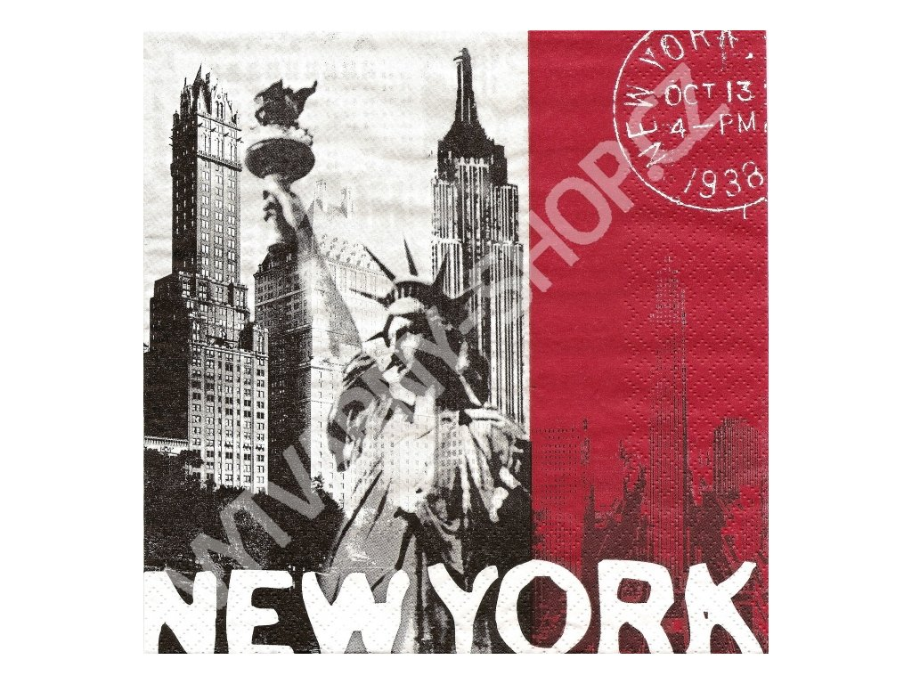 8234 ubrousek 33x33 cm global city new york