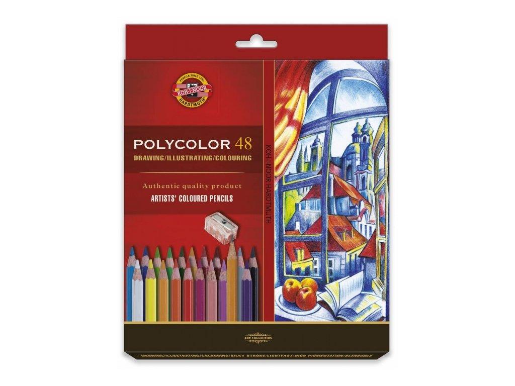 8690 1 umelecke pastelky polycolor 48ks v krabicce 3836